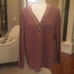 Listicle Long Sleeve Thermal Top